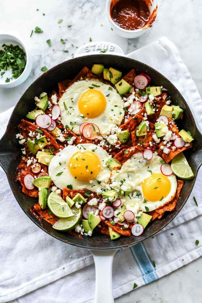Easy chilaquiles with eggs from FoodieCrush