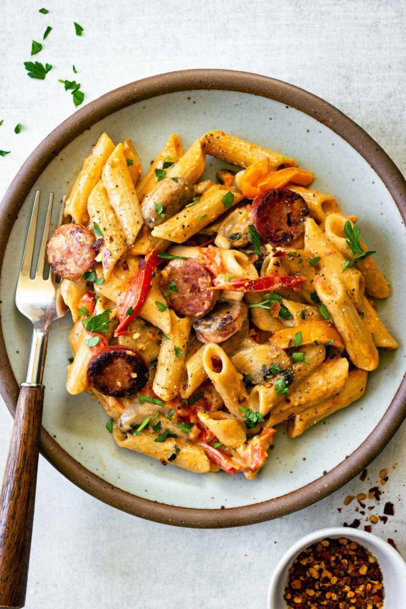 Meal plan ideas: Cajun Sausage Pasta at Pass Me Some Tasty