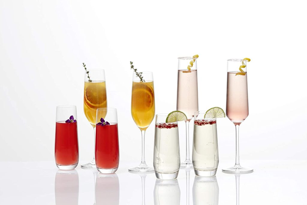 Champagne cocktail recipes: serve in beautiful glasses like these flutes from Schott Zwiesel