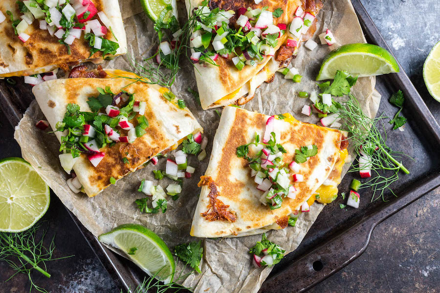Meal plan ideas: Easy meals for a busy week, like these chorizo quesadillas at Serious Eats