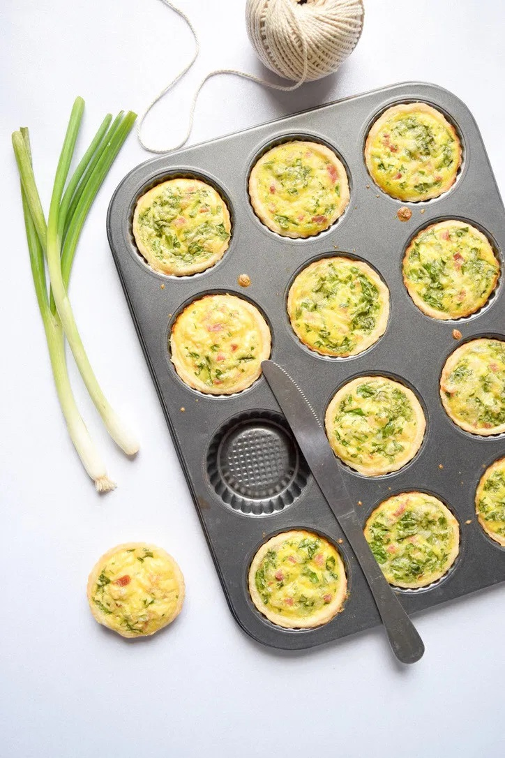 Easy spring appetizers for dinner at home: Mini quiches at Wellness for Womanhood. We could eat these for every meal.