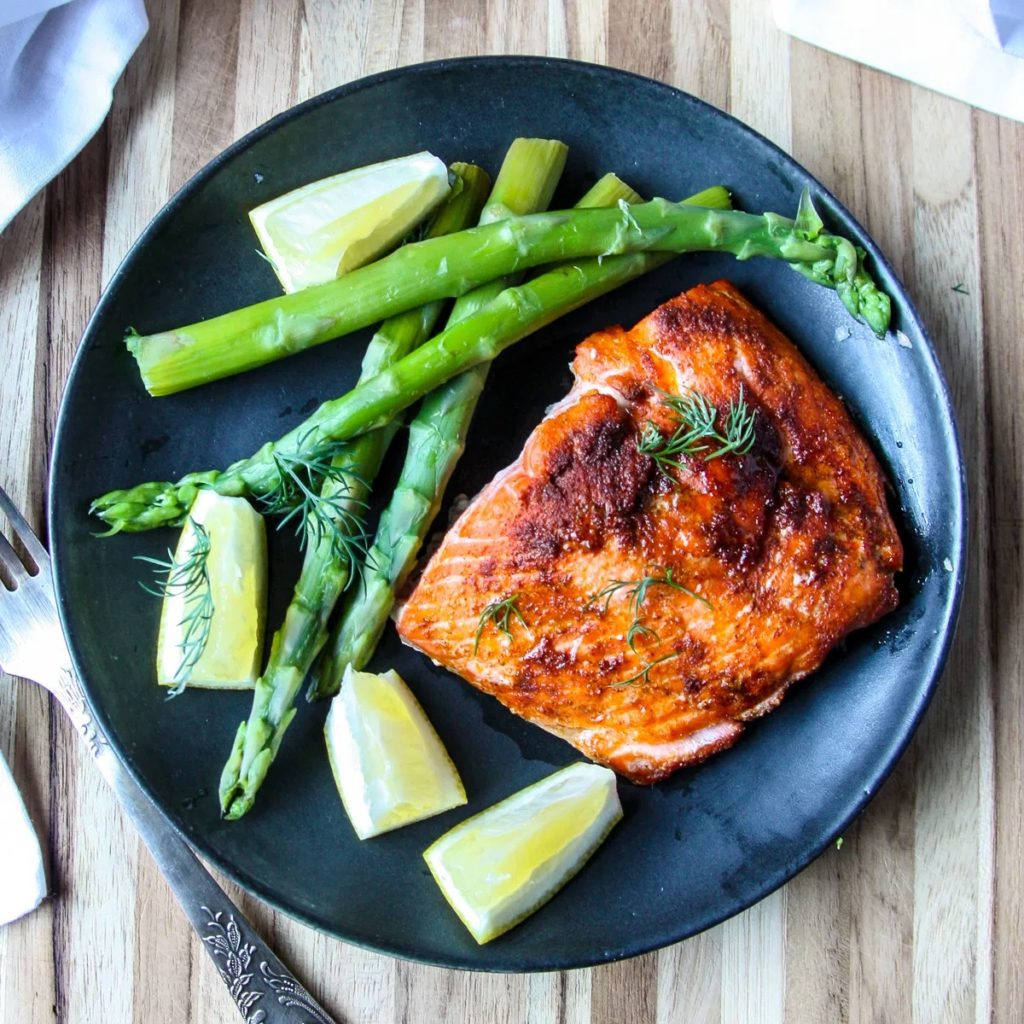 Meal Plan Ideas: Air-fryer Salmon at The Food Blog