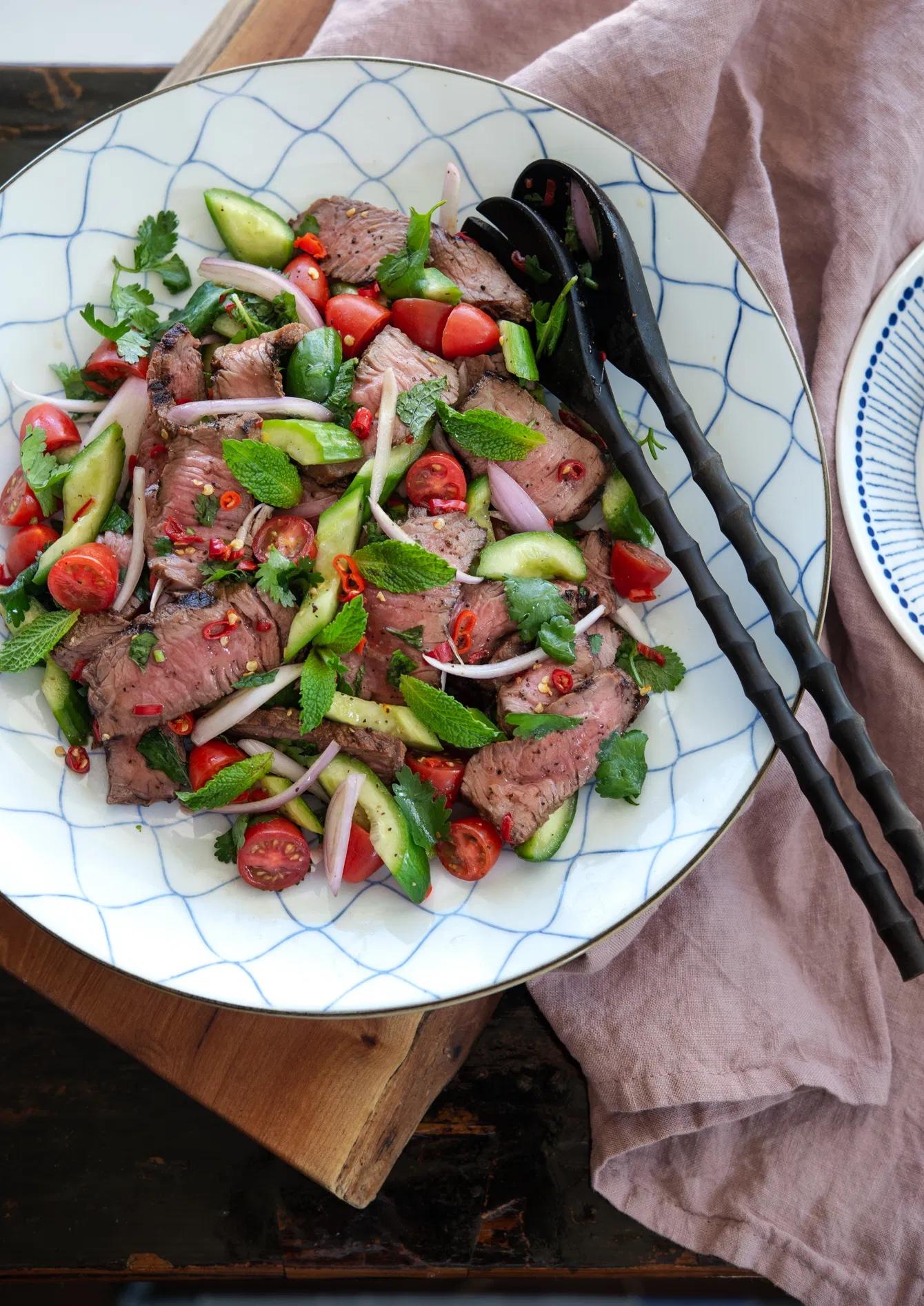 Weekly meal plan ideas: Thai Beef Salad at Beyond Kimchee