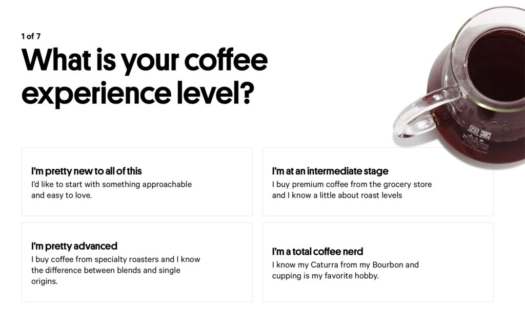 Take this fun quiz from Trade Coffee to learn what kind of beans you'd like best
