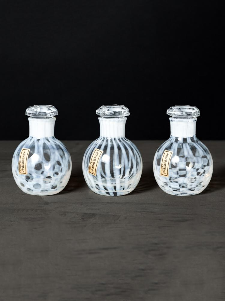 Hirota Glass Co soy sauce bottles are made from glass using an ancient Japanese technique
