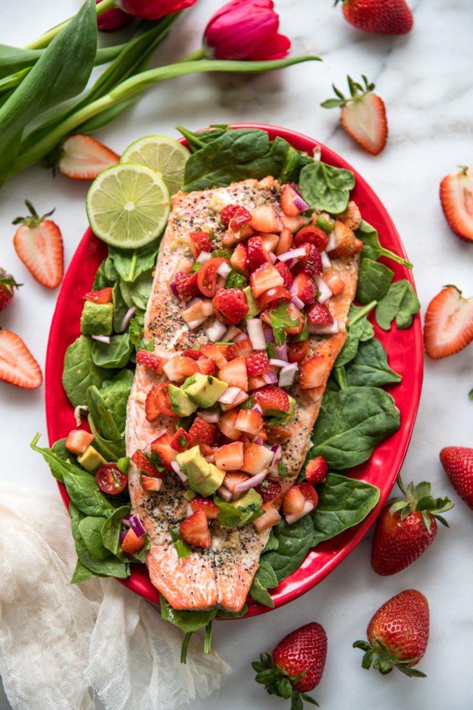 Salmon-with-Strawberry-Salsa-from-KrollsKorner