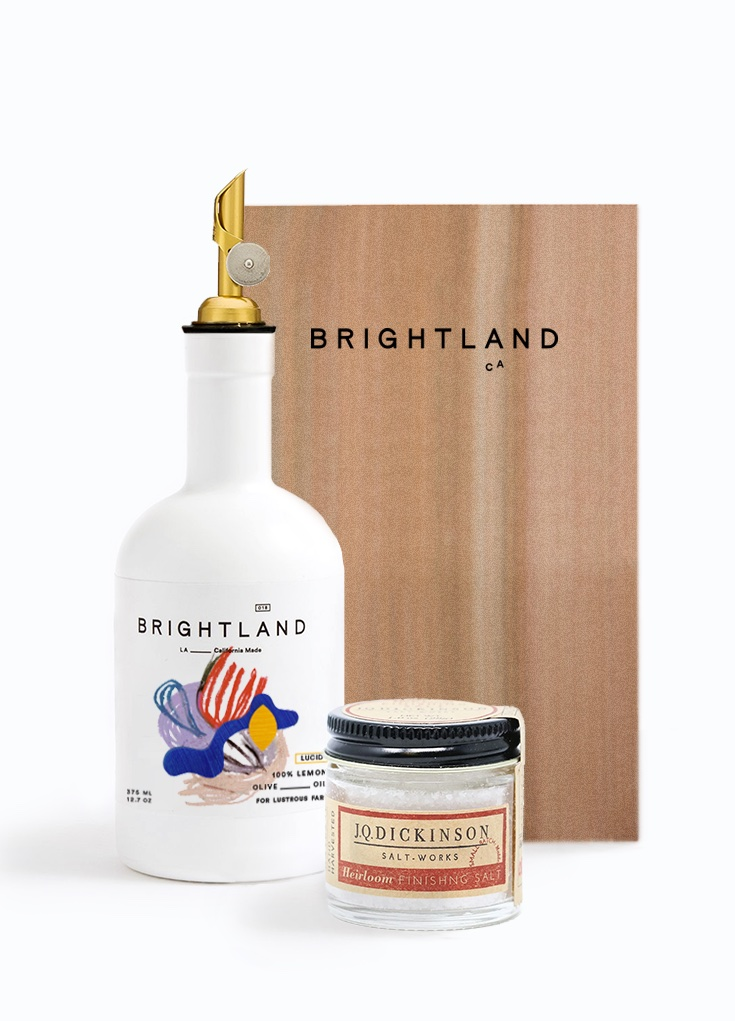 Brightland is an AAPI-owned company making foodie favorite olive oils and gift sets like this grilling gift set, in time for Father's Day