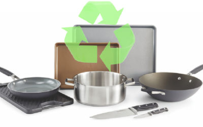 We found the easiest new way to recycle old cookware, bakeware, and cutlery, right from home