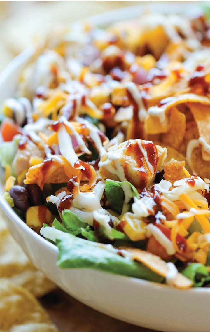 Weekly meal plan ideas: BBQ Chicken Salad at Damn Delicious