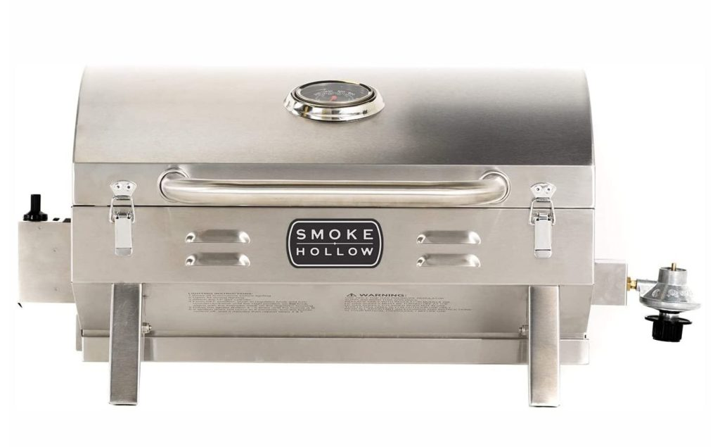 Meal plan ideas: A portable gas grill can be a smart choice in small spaces.