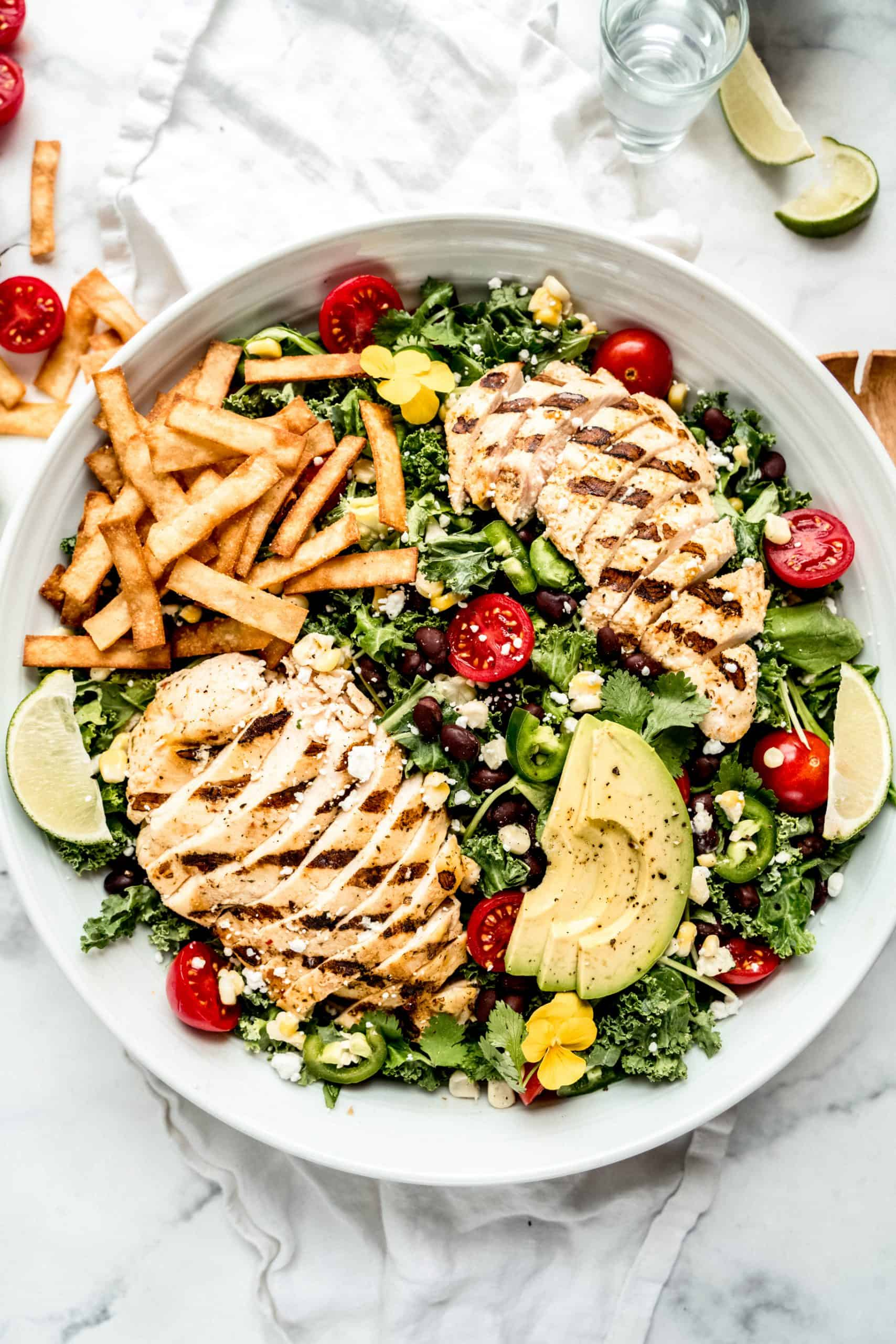 Meal plan ideas: Grilled chicken salad at Windy City Dinner Fairy