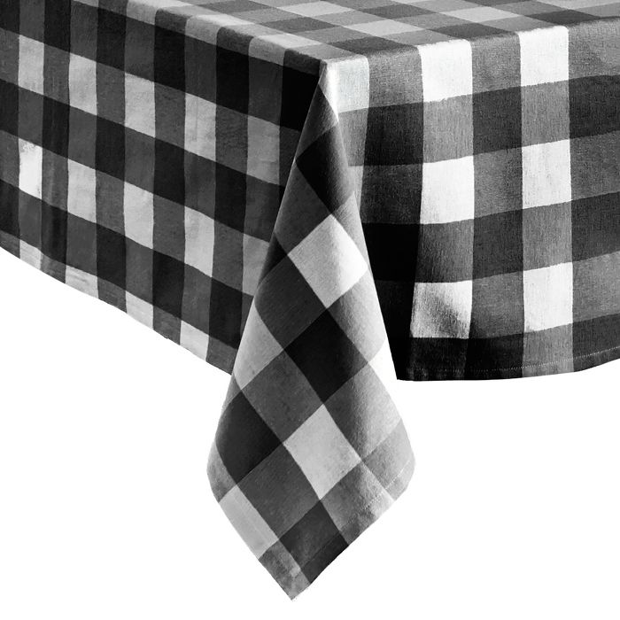 2021 meal plan ideas: Encourage the family to eat together at the table with a summery gingham tablecloth.