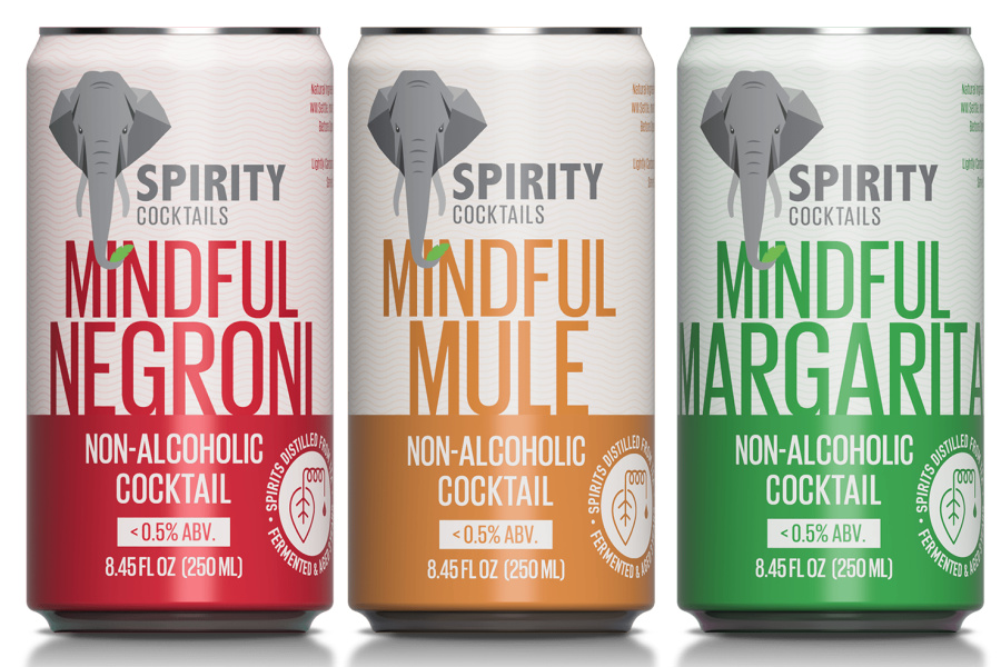 Non-alcoholic canned cocktails: Spirity Cocktails