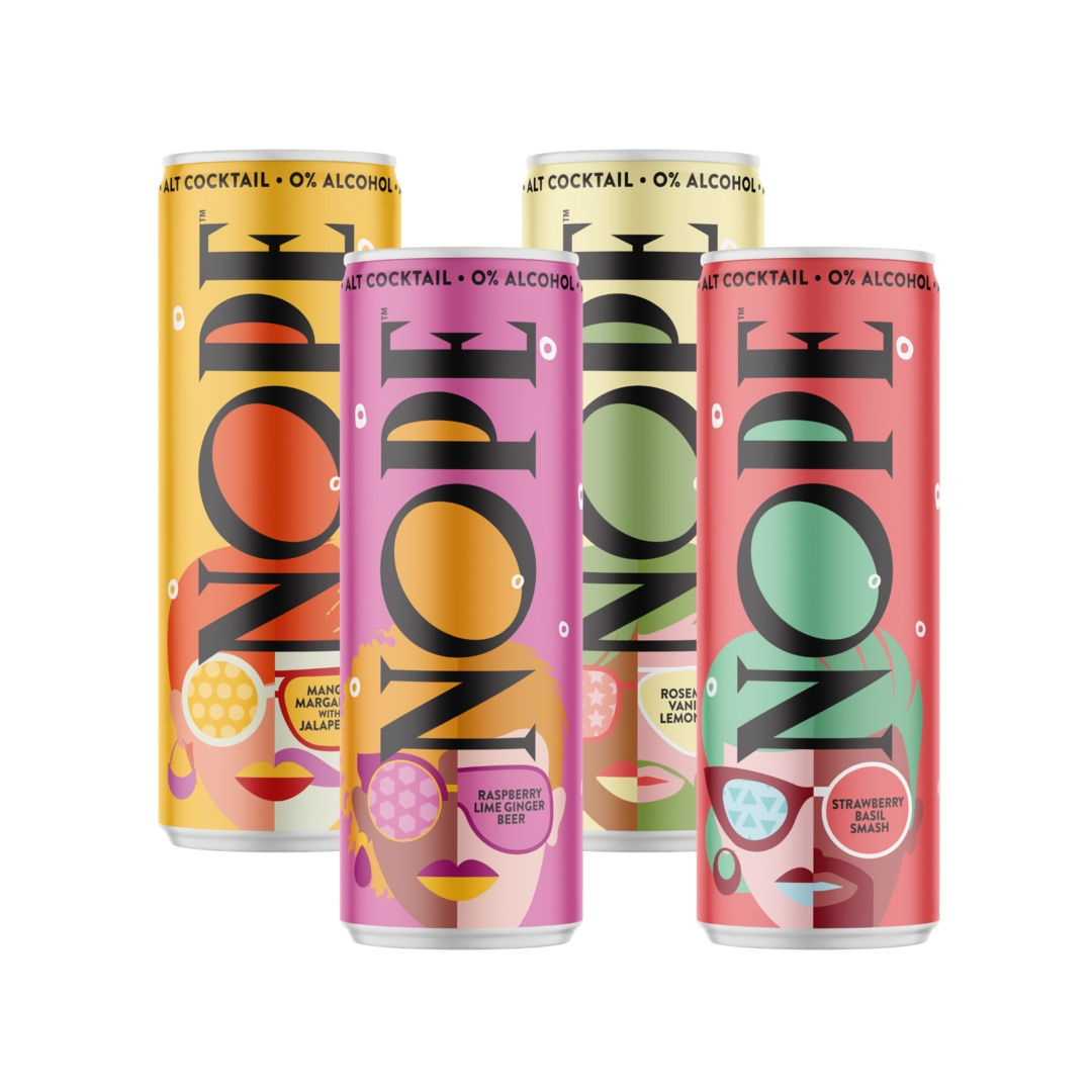 Non-alcoholic canned cocktails: NOPE
