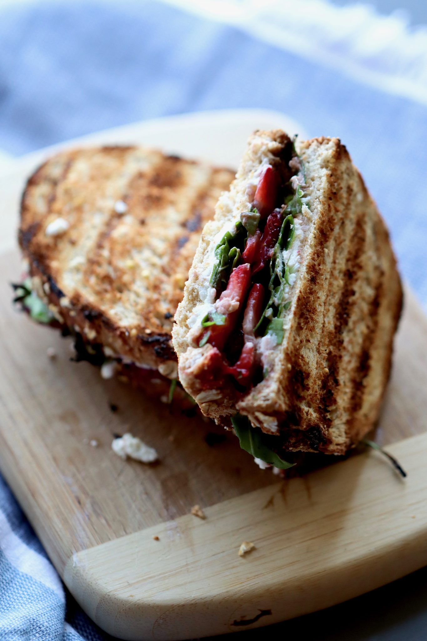Meal plan ideas: Strawberry and Goat Cheese Paninis at Cait's Plate