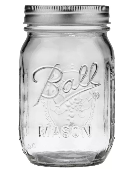Ball mason jars, available at Target and other stores, make great containers for lunch