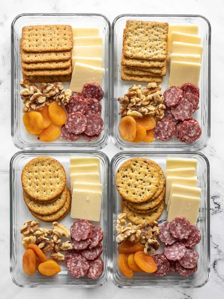 Prep a whole week at once with this charcuterie-style school lunch idea from Budget Bytes