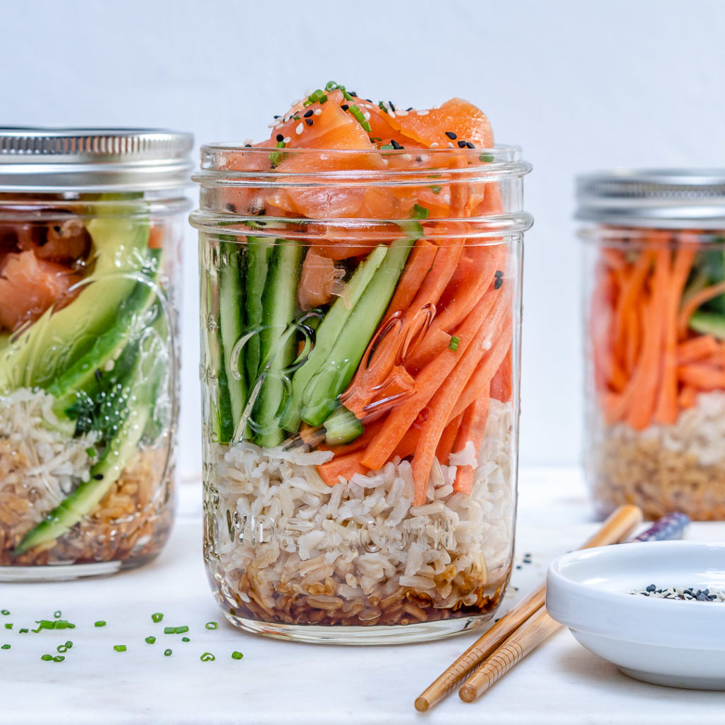 Send them to school with these Sushi Mason Jars from Clean Food Crush