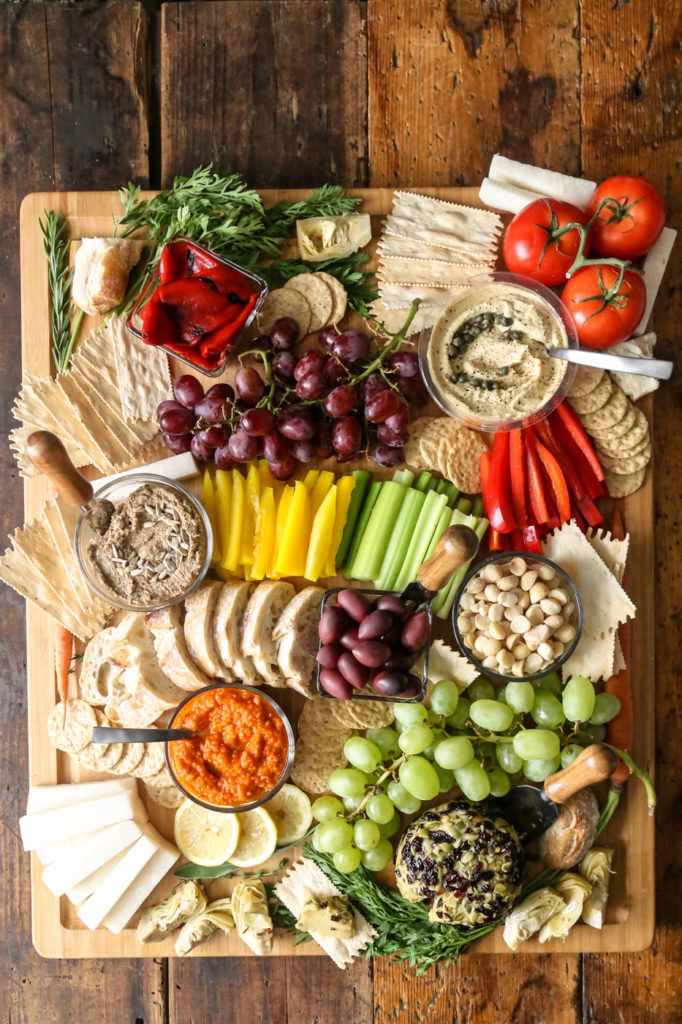 Use the vegan ideas from The Plant Philosophy to create a charcuterie-style school lunch for vegans