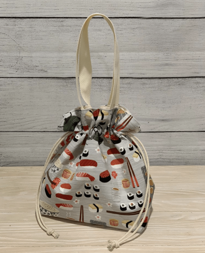 Cool lunch bags for teens: Drawstring Lunchbag from Romis Handmade on Etsy