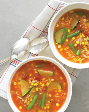 Weekly Meal Plan: Late-Summer-Vegetable-Soup-from-Martha-Stewart