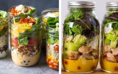 Need school lunch ideas for older kids? Grab a mason jar!