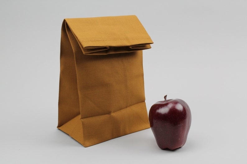 Cool Lunch bags for Teens: The Brown Bag from Italic Home on Etsy