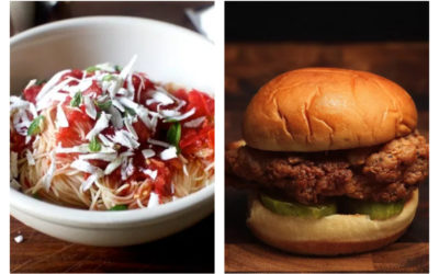 Easy weeknight meals from a simple, tasty pasta dish to a 5-ingredient chicken sandwich | Weekly Meal Plan Ideas #32