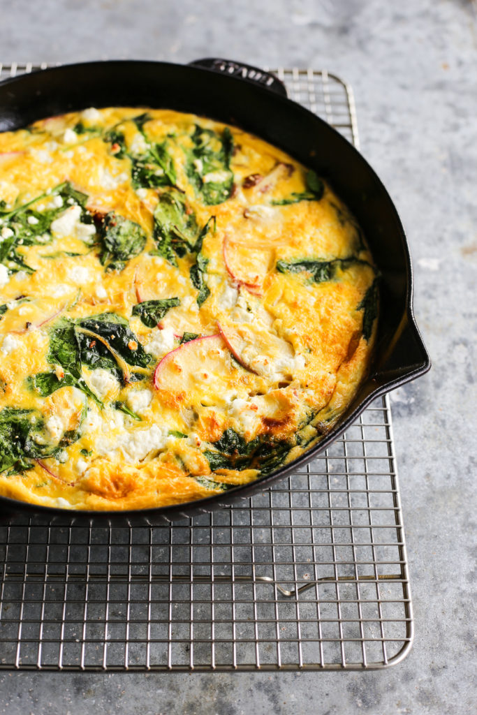 Breakfast for dinner with this apple frittata from The Defined Dish