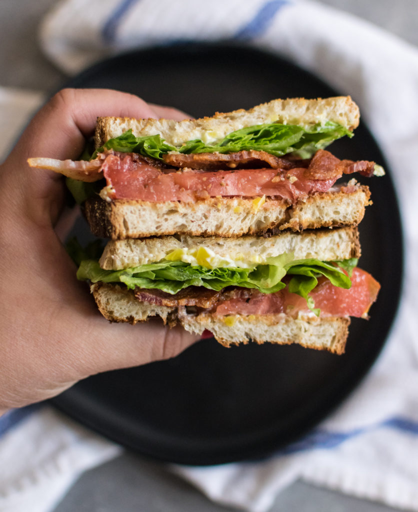 Weekly Meal Plan featuring September produce: BLT with Pepperoncini Mayo from CarolynsCooking