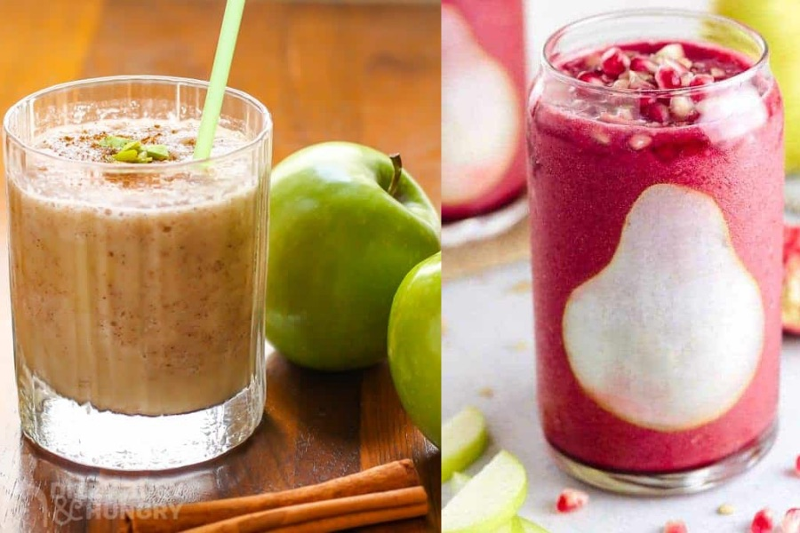 Fall flavor smoothie recipes from Dizzy Busy & Hungry and Jessica Gavin