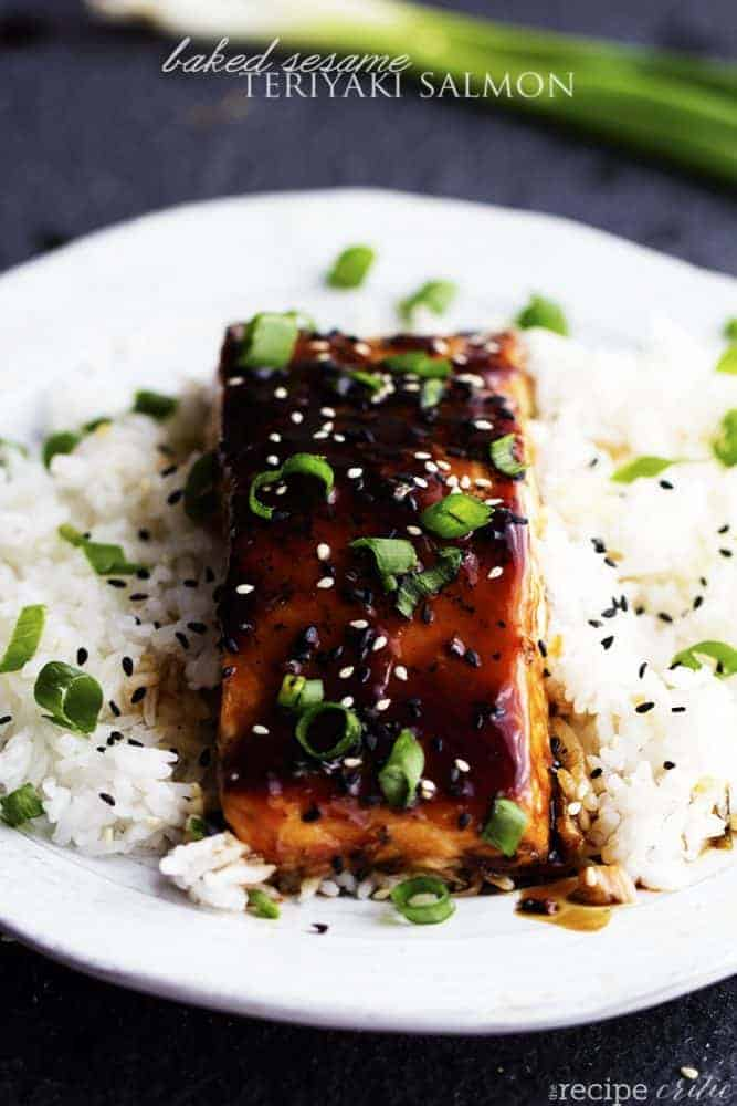 6 flex sauces that can do double-duty for meat lovers and vegetarians: Sesame Salmon | The Recipe Critic