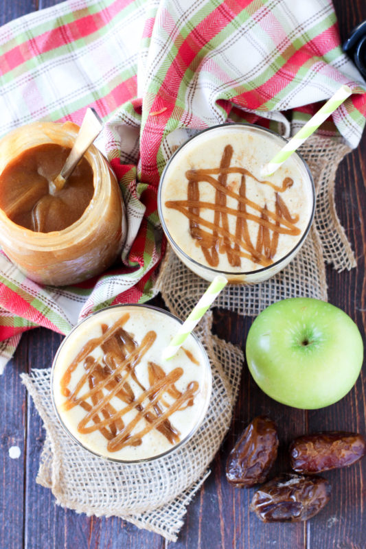 This caramel apple smoothie from Recipes Worth Repeating looks perfect for a fall dessert