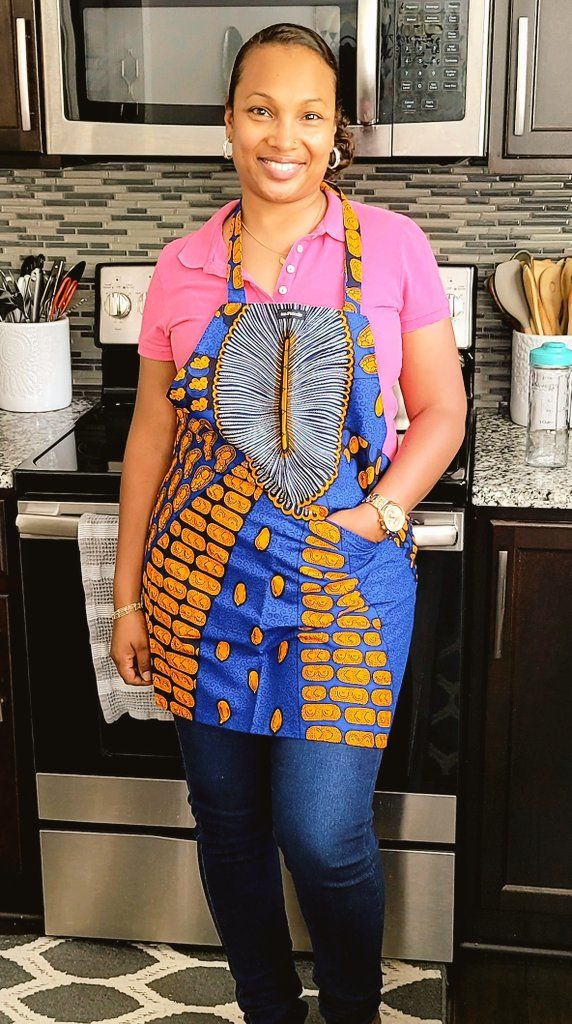 Aprons from soulPhoodie in African prints. They're not only practical and gorgeous, they support an amazing Black-owned business