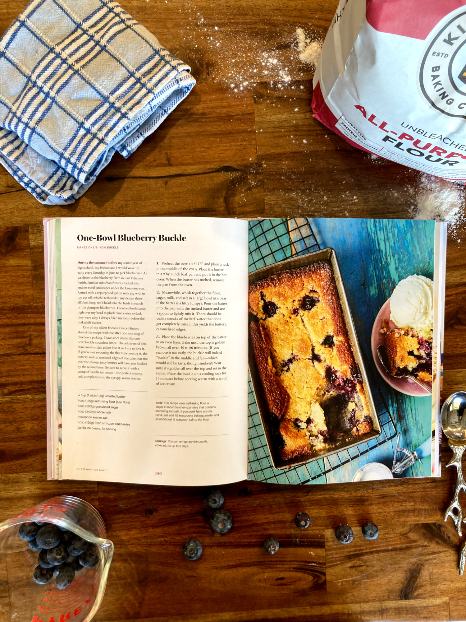 Vallery Lomas's new book includes Southern staples, like this One-Bowl Blueberry Buckle