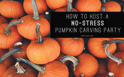 5 tips for hosting an easy, fun, NO-STRESS pumpkin carving party for kids! | Cool Mom Eats